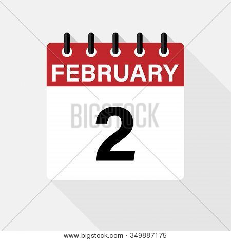 Vector Flat Dezign Daily Calendar Icon. Day , Month