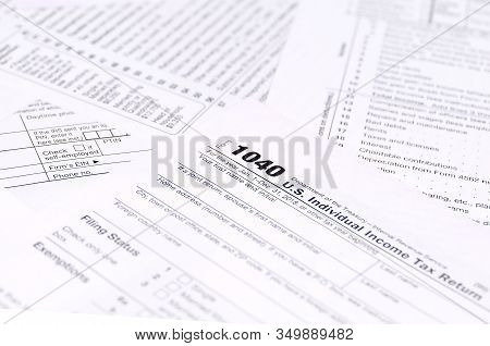 Blank Income Tax Forms. American 1040 Individual Income Tax Return Form