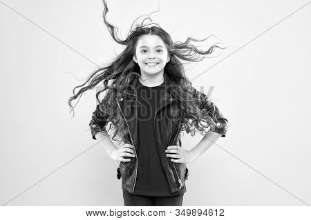 Her Hair Radiates Health. Strong Persistent Winds Can Create Tangles And Snags In Wavy Long Hair. Pr