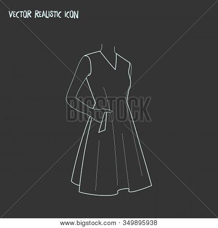 Sleeveless Dress Icon Line Element. Vector Illustration Of Sleeveless Dress Icon Line Isolated On Cl