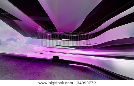 abstract violet horizontal lines
