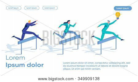 Application Ideas, Giving Advantage In Competitive Race And Promoting Market Leadership. Businessman