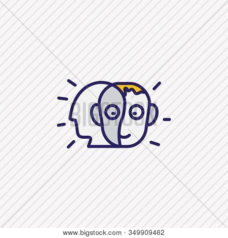 Illustration Of Alter Ego Icon Colored Line. Beautiful Emotions Element Also Can Be Used As Person I