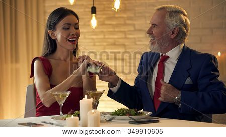 Sexy Young Female Taking Money Old Husband, Marriage Of Convenience, Mistress