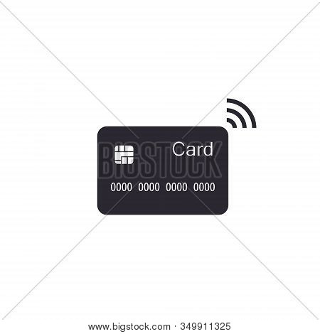 Contactless Credit Card Icon, Bank Card With Radio Waves Sign, Credit Card Payment Vector Illustrati