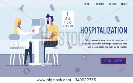Patient Passing Exam Or Checkup Before Hospitalization. People - Doctor And Sick Person In Hospital.