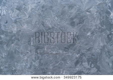 Beton Concrete Cement Wall Grey Tone Loft Style, Flat Lay Top View Copy Space