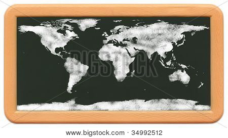 Child's Mini Chalkboard - Chalk World Map