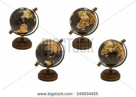 Planet Earth Globe, Map Of The Earth's Surface, North America And South America, Australia, Europe,