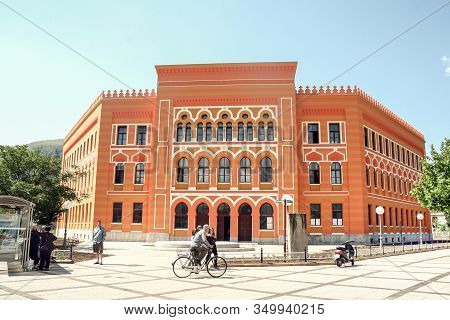 Mostar, Bosnia And Herzegovina - June 3, 2009: Mostar Gymnasium High School, Also Called Gimnazija,