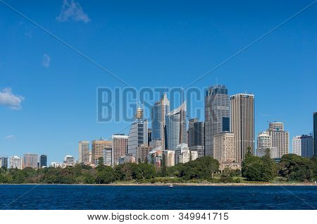 Sydney, Australia - July 23, 2016: Sydney Business District Cityscape With Office Skyscrapers And Ro