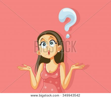 Funny Shrugging Woman Having Too Many Questions