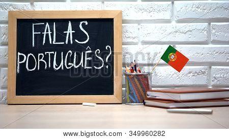 Do You Speak Portuguese On Board, International Flag In Box, Learning Language