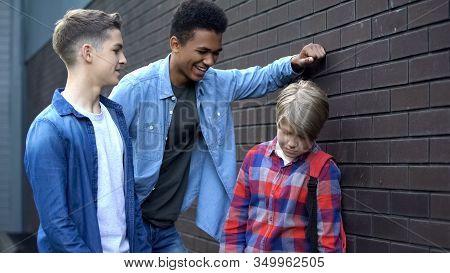 Arrogant Senior Students Bullying Junior, Mocking Weak Nerd, Intimidation
