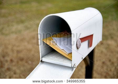 Open Mailbox With Letters Inside