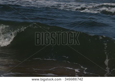 Close Up Of Crystal Water Of Blue Sea On The Beach, Sea Wave.sea Waves On Beach. Sea Beach, Marina B