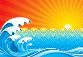 Surf sun abstract ( for VECTOR format, search Image ID: 16663840 ) poster