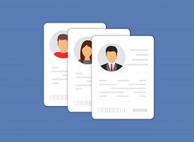 Personal Info Data Icon. Identification Card Icon. Personal Info Data Icon. User Or Profile Card Det