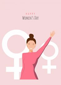 8 march holiday, womans day, womens day holiday background, womens day holiday banners, women's day flyer, women's day design. Happy International Women's Day on March 8th design background. Illustration of womans face profile with retro style makeup. EPS