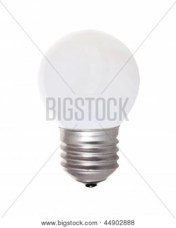 Light Bulb With Milk Glass Isolated Over White