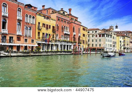 a view of The Grand Canal in Venice, Italy