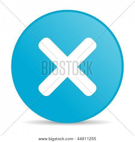 cancel blue circle web glossy icon