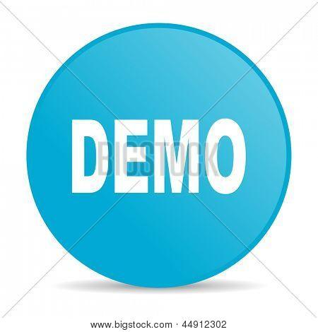 demo blue circle web glossy icon