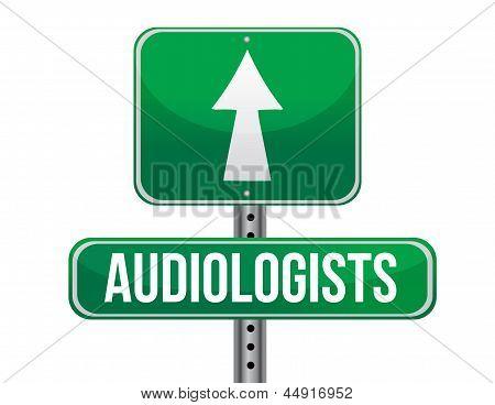 Audiologist Road Sign Illustration Design