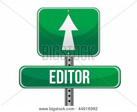 Editor Road Sign Illustration Design