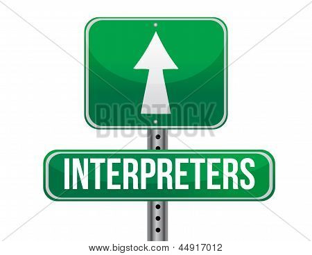 Interpreters Road Sign Illustration Design