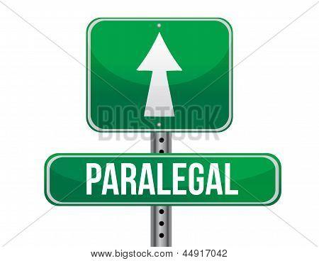 Paralegal Road Sign Illustration Design