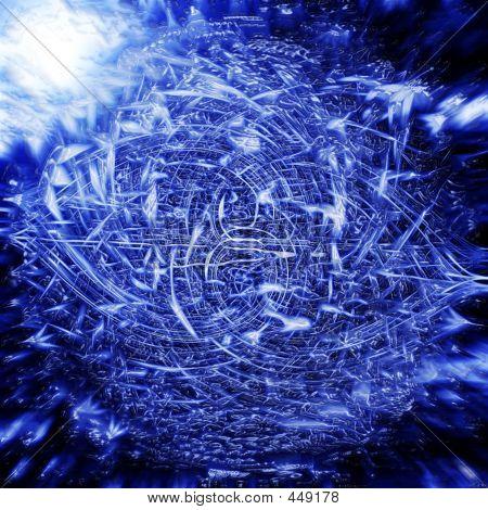 Electric Blue Vortex