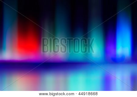Abstract Blur And Reflection Of Red And Blue Radiance Of Flame