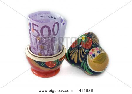 Russian Doll With Euro Inside