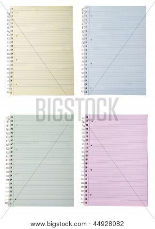 Four Blank Notebooks