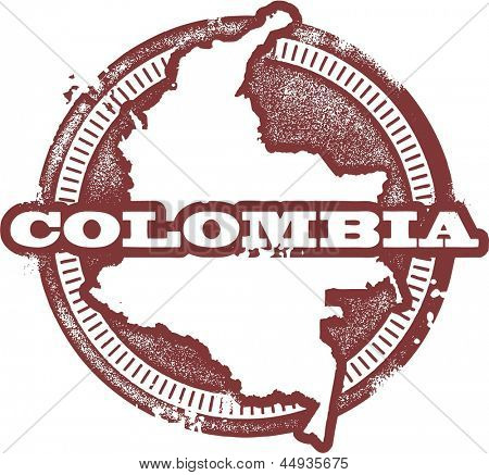 Colombia South America Country Stamp