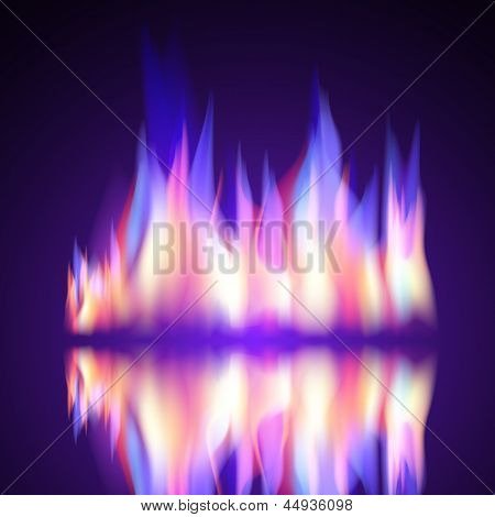 Gas Fire flame burn vector background