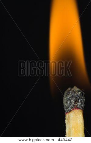 Match Fire Closeup