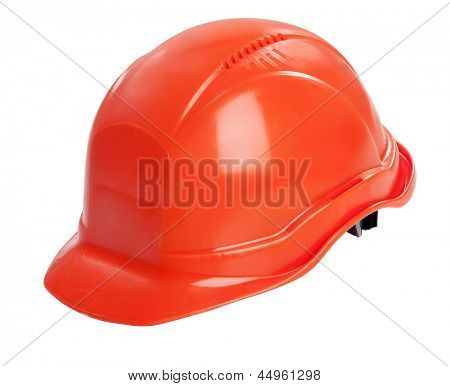 Protective helmet on white background