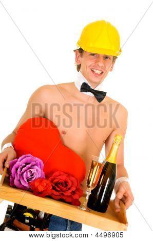 Man Valentine Champagne