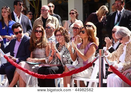 LOS ANGELES - APR 27:  T Garity, M Shriver, L Tomlin, E Longoria at the ceremony to install Jane Fonda's handprints and footprints in cement at the Chinese Theater on April 27, 2013 in Los Angeles, CA