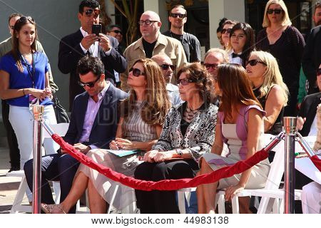 LOS ANGELES - APR 27:  Troy Garity, Maria Shriver, Lily Tomlin, Eva Longoria at the ceremony for Jane Fonda's hand and footprints in cement at the Chinese Theater on April 27, 2013 in Los Angeles, CA