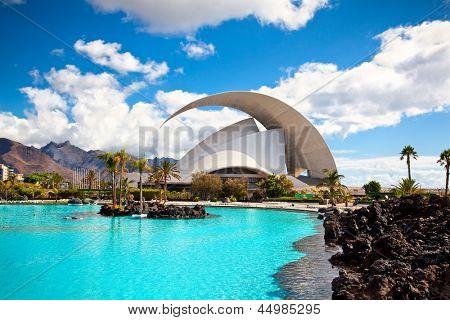TENERIFE, SPAIN - SEPTEMBER 16: Auditorio de Tenerife on September 16, 2011.Designed by architect Santiago Calatrava Valls become an architectural symbol of city Santa Cruz de Tenerife.