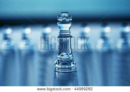Xadrez King - conceito de negócio série - competição, liderança, Ceo.
