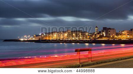 Nihgt City At The Bank Of Ocean Bay