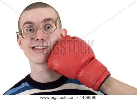 Man Of Kick In Boxer Glove