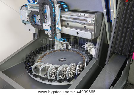 Milling Or Drilling Machine In A Dental Laboratory