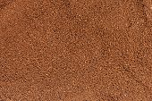 Texture of ground coffee in close up poster