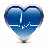 Pulse ! Heart Beats in Blue Oscillator. poster