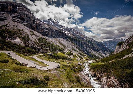 View Of Stelvio Pass